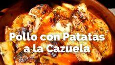 Pollo con Patatas a la Cazuela / Receta Casera / Rico barato y fácil de ... Carne, French Toast, Breakfast, Food, Casserole, Chicken Recipes, Homemade Recipe, Potatoes, Wood Furnace