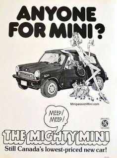 . Mini Clubman, Mini Coopers, Car Advertising, Ads, Car Posters, Classic Mini, Jaguar, Cool Cars, Graffiti