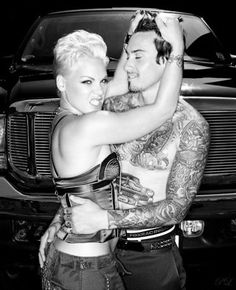 American Pop singer, actress and model Pink often stylized as P!nk was born Alecia Beth Moore on September 8, 1979  and her husband Carey Hart
