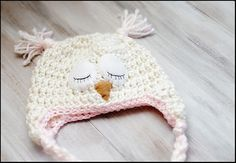 free crochet owl hat pattern for babies