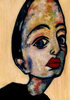 "Saatchi Art Artist CARMEN LUNA; Painting, ""59-RETRATOS Expresionistas.  Enero."" #art http://www.saatchiart.com/art-collection/Painting-Assemblage-Collage/Expressionist-Portrait/71968/51263/view"