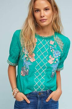 Maeve Perennial Blouse  #anthropologie  #anthrofave