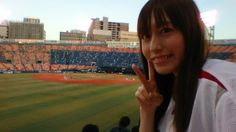 Rei Matsuzaki in Yokohama baseball studium.
