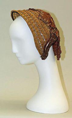 Promenade bonnet  Date:ca. 1866 Culture:American Medium:straw, silk Accession Number:C.I.57.15.11