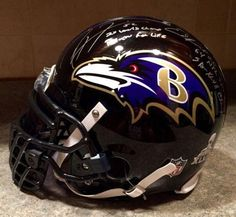 Ray Lewis Ed Reed SB XLVII XXXV Team Signed Game Model Ravens Pro Helmet - JSA Certified - Autographed NFL Helmets -- Check this awesome product by going to the link at the image.