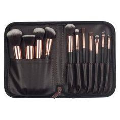 6576b125887 11 Pcs Makeup Brushes Set Tools Cosmetic Brush Holder Bag Face Foundation  Make Up Sleeve Kit