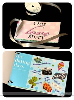 Our Love Story- make a mini scrapbook together!