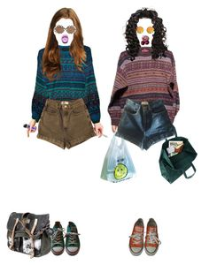 """like two peas"" by teenagedenigma ❤ liked on Polyvore featuring Maison Margiela, American Apparel and Converse"