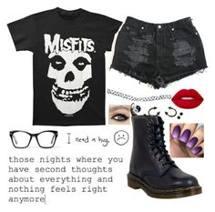 """Every day for a few years"" by jayceepanda on Polyvore featuring Dr. Martens, Spitfire, Wet Seal and Lime Crime"