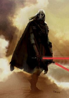 he should not have lightsabers he was not taught how to wield lightsabers till after he was turned into a cyborg and he never had red blades
