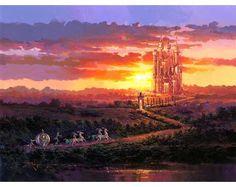Disney Dreams Art - Rodel Gonzalez Castle at Sunset - Thomas Kinkade Online