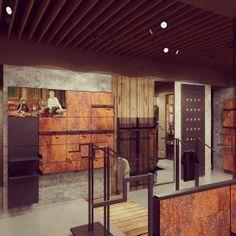Ideas de #Tienda, estilo #Eclectico color  #Marron,  #Marron,  #Marron, diseñado por AG Interiorismo  #CajonDeIdeas