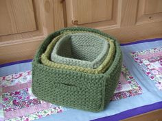 PumpkinKnits project on Ravelry of Nesting Felted Boxes from Mason Dixon Knitting