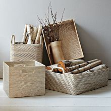 Modern Weave Storage Collection - Whitewash