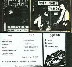 Chaau, K7 live au Garage à Vélos, Campus Université de Poitiers, Goth Rock, 270mars 1988, TDS, AMP.