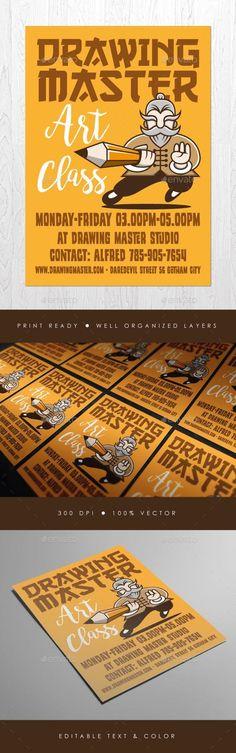 Drawing Master Flyer for $7 #DesignResource #design #PrintDesign #GraphicResource #commerce #CommerceFlyer #template #collections #graphic #graphicdesign #designs #BusinessFlyer #sets #business #FlyerTemplates #PrintTemplate #FlyerTemplate #DesignSets #flyer #GraphicRiver Teacher Cartoon, Flower Symbol, Animal Symbolism, Promotional Flyers, Art Courses, Information Graphics, Symbol Logo, Animal Logo, Text Color