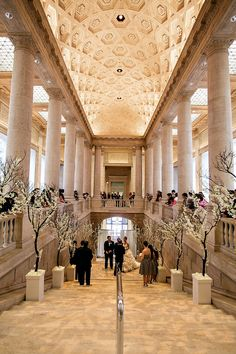 San Francisco Wedding at the Asian Art Museum Read more - http://www.stylemepretty.com/california-weddings/san-francisco/2014/02/28/san-francisco-wedding-at-the-asian-art-museum/