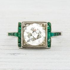 1.20 Carat Diamond and Emerald