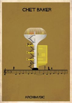 "ARCHIMUSIC: Illustrations Turn Music Into Architecture - Federico Babina / Chet Baker, ""My Funny Valentine"""