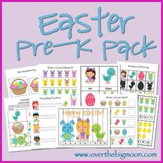 Download a free Easter Pre-K printable pack at Over the Big Moon. These free Easter printables include over 15 activities for your preschooler.