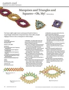 PEANUT Bead Jewelry Components by Melinda Barta - FREE Tutorial. Page 1 of 2: