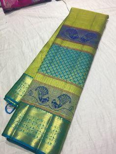 Kanjivaram Sarees Silk, Pure Silk Sarees, Saree Color Combinations, Silk Saree Blouse Designs, Ethnic Sarees, Sari, Room Decor, Pure Products, Facebook
