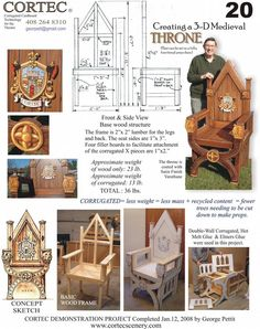 How to make a Medieval Throne, wood and cardboard