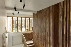 Vertical Wood Slat Wall