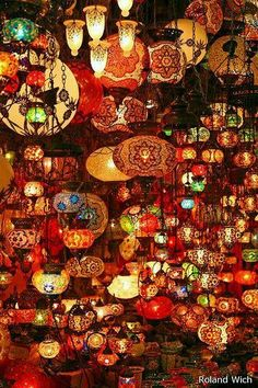 Istanbul - Grand Bazar lamps at kapali carsi (the grand bazaar)