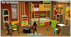 Around the Sims 3 | Custom Content Downloads| Objects | Kids | Tam-Tam bedroom with bunk and loft beds The Sims, Sims Cc, Curly Kids, Sims 4 Cc Kids Clothing, Sims 4 Cc Packs, Sims 4 Cc Furniture, Sims 4 Custom Content, 3 Kids, Kids Bedroom