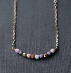 prisma –multicolor beaded necklace