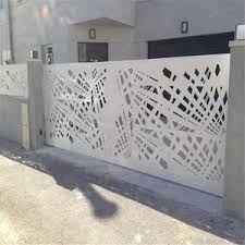 Mild Steel Laser Cut Gate and Fence Grill Gate Design, House Main Gates Design, Front Gate Design, Door Gate Design, House Front Design, Fence Design, Modern Entrance, Modern Fence, Gate Designs Modern