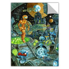 ArtApeelz 'Robots' by Luis Peres Graphic Art on Wrapped Canvas