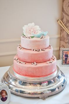 ombre coral peach wedding cake homemade, image by. Pretty Cakes, Cute Cakes, Beautiful Cakes, Awesome Cakes, Diy Wedding Cake, White Wedding Cakes, Wedding Ideas, Sweet 16 Decorations, Peach Cake
