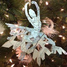 Paper Ballerina Snowflakes