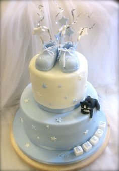 To baby boy! No Bake Cake, Baby Boy, Birthday Cake, Cakes, Baking, Desserts, Food, Tailgate Desserts, Birthday Cakes