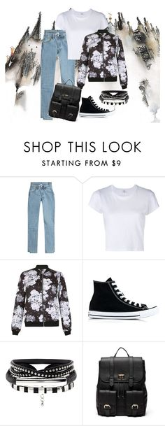 """""""💕"""" by malina-dobrescu ❤ liked on Polyvore featuring Vetements, RE/DONE, Izabel London, Converse and Sole Society"""