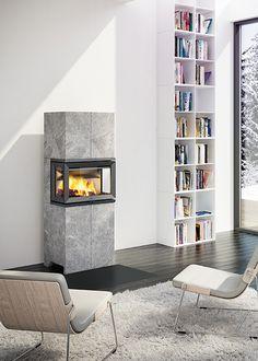 Jøtul FS 173 är en elegant täljstenskamin med insyn till elden från tre sidor. Med den toppmonterade ventilen väljer du om värmen ska spridas direkt i rummet i form av konvektionsvärme, eller om värme ska magasineras i täljstenen. Jøtul FS 173 är anpassadJøtul I 520 FRL.