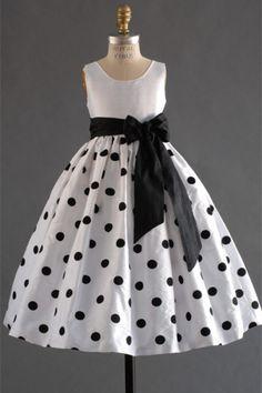 Little Flowers: Polka Dots Flower Girl Dress