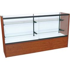 kc store fixtures front opening glass showcase with led light finish cherry size shoe