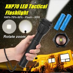 XANES 1293 Zoomable USB Rechargeable LED Flashlight XHP50 Highlight Telescopic 18650 2660 Torch Torch Light, Holiday Lights, Led Flashlight, Strip Lighting, Telescope, Lamp Light, Usb, Highlight