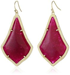 Kendra Scott  Gold and Maroon Jade Alexandra Drop Earrings ** Continue to the product at the image link.
