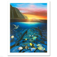 """Wyland """"Kiss for the Sea"""". Starting at $245"""