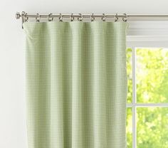 Gingham Panel with Blackout Liner #PotteryBarnKids