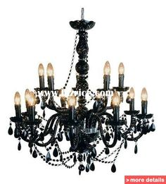 Black candle stick chandelier