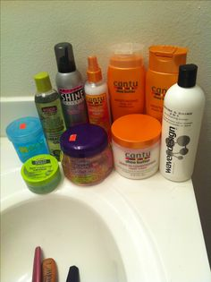 My natural hair products