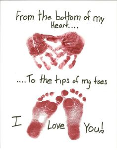 mothers day handprint card