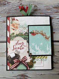 Halloween Mini Albums, Christmas Mini Albums, Christmas Scrapbook, Christmas Minis, Christmas Photos, Christmas Cards, Santa Christmas, Homemade Christmas, Mini Scrapbook Albums