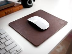 Ugmonk Leather Mousepad. Will age and patina throughout the years as you use it.