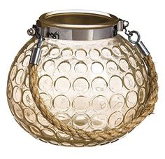 Gifted Living Rustic Amber Glass Candle Holder with Rope Handle Medium ** Details can be found by clicking on the image.Note:It is affiliate link to Amazon.